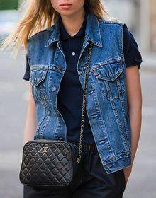 джинсовые жилетки