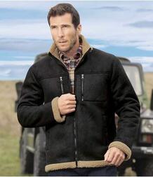 Замшевая Куртка с Подкладкой из Шерпы AFM 2744536