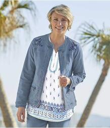 Джинсовая Куртка с Вышивкой AFM 2549719