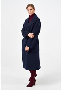 Шерстяное пальто с поясом Синар 370911
