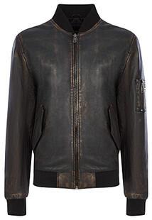 Бомбер из натуральной кожи Urban Fashion for Men 371534