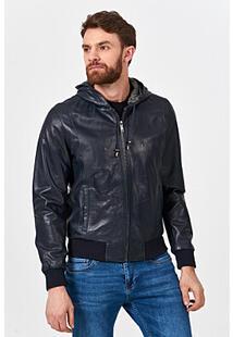 Кожаная куртка с капюшоном Urban Fashion for Men 365460