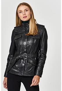 Куртка из натуральной кожи с ремнем La Reine Blanche 361075