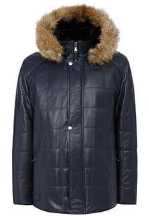 Кожаная куртка с подкладкой из овчины Jorg Weber 363629