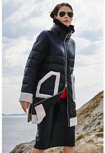 Утепленная куртка с отделкой Virtuale Fur Collection 360347