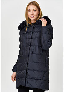 Стеганая куртка с отделкой мехом кролика LE MONIQUE 359201