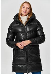 Утепленная кожаная куртка La Reine Blanche 355525