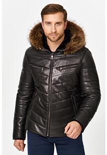 Кожаная куртка с подкладкой из овчины Jorg Weber 356739