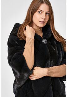Норковая шуба с капюшоном Empire of Fur 347672