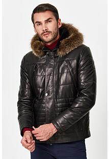Кожаная куртка с подкладкой из овчины Jorg Weber 355515