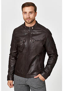 Утепленная кожаная куртка Jorg Weber 352647