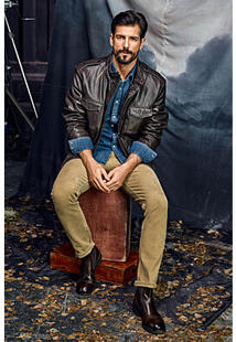 Утепленная кожаная куртка Jorg Weber 345459
