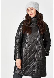 Утепленная кожаная куртка с отделкой овчиной Vericci 352631