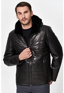 Кожаная куртка с подкладкой из овчины Jorg Weber 350883