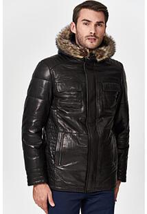Кожаная куртка с подкладкой из овчины Jorg Weber 350882
