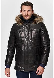 Кожаная куртка с подкладкой из овчины Jorg Weber 350884