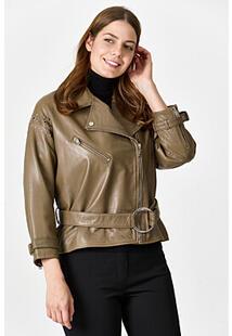 Короткая кожаная куртка La Reine Blanche 345050
