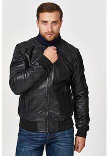 Утепленный кожаный бомбер Urban Fashion for Men 345471