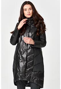 Утепленное кожаное пальто Vericci 350442