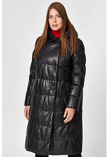 Утепленное кожаное пальто Vericci 350433