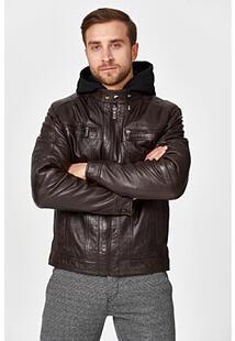 Утепленная кожаная куртка Jorg Weber 345439