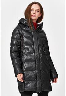 Утепленная кожаная куртка La Reine Blanche 341141