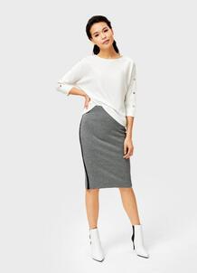 Трикотажная юбка миди с лампасами O`Stin 177491330299
