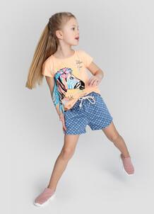 Принтованные шорты для девочек O`Stin 180750110299