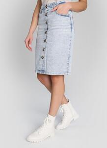 Юбка прямого силуэта в винтажной стирке O`Stin 180623470299