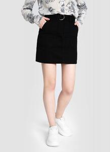 Хлопковая юбка с поясом O`Stin 179461200299