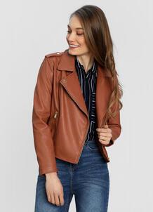Куртка-байкер из искусственной кожи O`Stin 180160570299