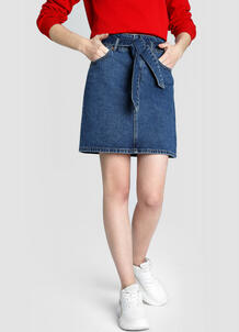 Денимная юбка Paperbag O`Stin 180145680299