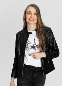 Куртка из искусственной кожи с воротником-стойкой O`Stin 180160550299