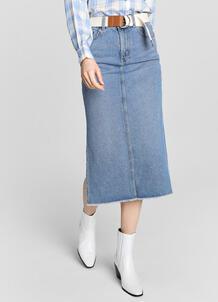 Джинсовая юбка миди с боковыми разрезами O`Stin 180131840299