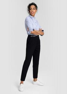 Жаккардовые брюки с поясом O`Stin 180132030299