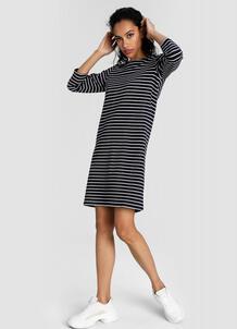 Платье в полоску из кроёного трикотажа O`Stin 180130210299