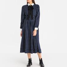 Платье длинное в клетку с бантом Sister Jane 350149121