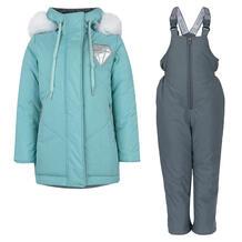 Комплект куртка/полукомбинезон Аврора Кристэл, цвет: голубой/серый Avrora 11149526