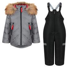 Комплект куртка/полукомбинезон Аврора Айсберг, цвет: серый/черный Avrora 11149688