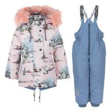 Комплект куртка/полукомбинезон Аврора загадка, цвет: розовый/сиреневый Avrora 11150132