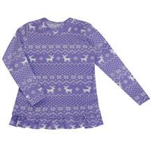 Джемпер Котмаркот Скандинавские узоры, цвет: фиолетовый 12119008