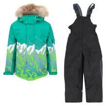 Комплект куртка/полукомбинезон Kvartet, цвет: зеленый Квартет 11812978