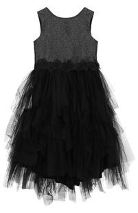 Платье с металлизированной отделкой и многослойной юбкой Aletta 2590322