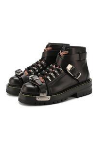 Кожаные ботинки Versace 10512575