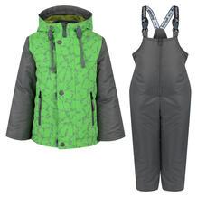 Комплект куртка/полукомбинезон Аврора Калейдоскоп, цвет: серый/зеленый Avrora 11149844