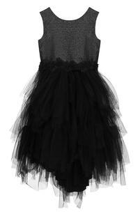 Платье с металлизированной отделкой и многослойной юбкой Aletta 2594073