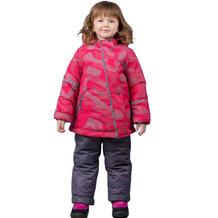 Комплект куртка/полукомбинезон Аврора Радуга, цвет: малиновый/серый Avrora 11149784
