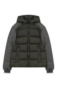 Комбинированная куртка с капюшоном HERNO 6442407