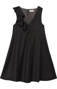Расклешенное платье с оборкой Aletta 4699925