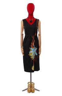 Платье из смеси вискозы и хлопка Dries Van Noten 10412381